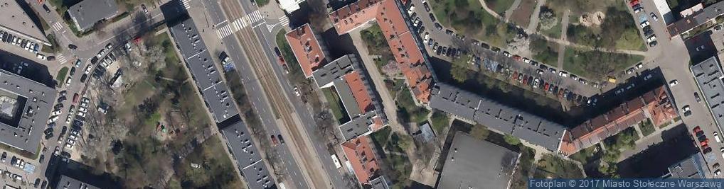 Zdjęcie satelitarne Spółdzielnia Mieszkaniowa im A Mickiewicza w Warszawie