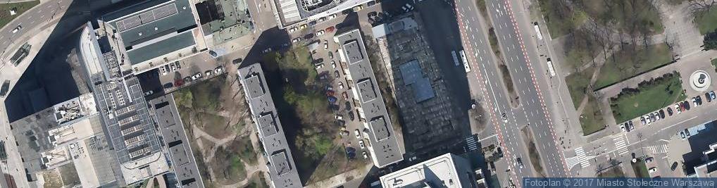 Zdjęcie satelitarne Towarzystwo Przyjaciół Muzeum Sztuki Nowoczesnej w Warszawie