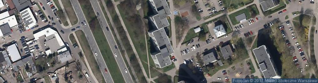 Zdjęcie satelitarne Trassa