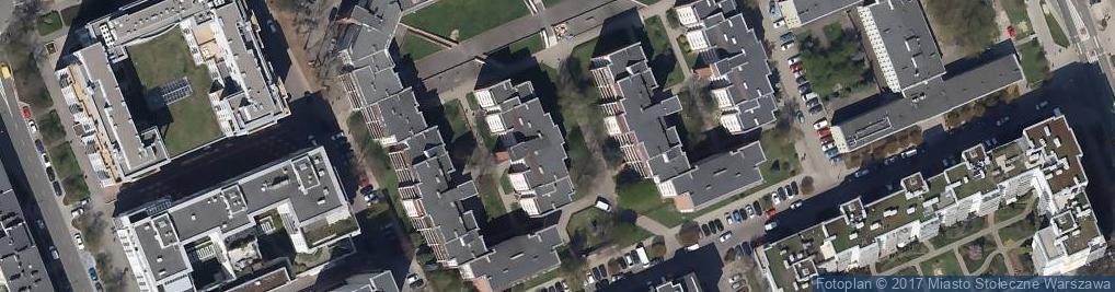 Zdjęcie satelitarne Warszawskie Centrum Karate