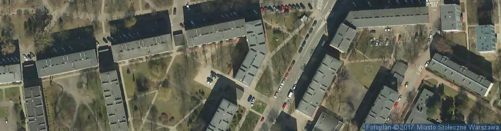 Zdjęcie satelitarne Zakład Gospodarowania Nieruchomościami w dzielnicy Ochota m. st. Warszawy