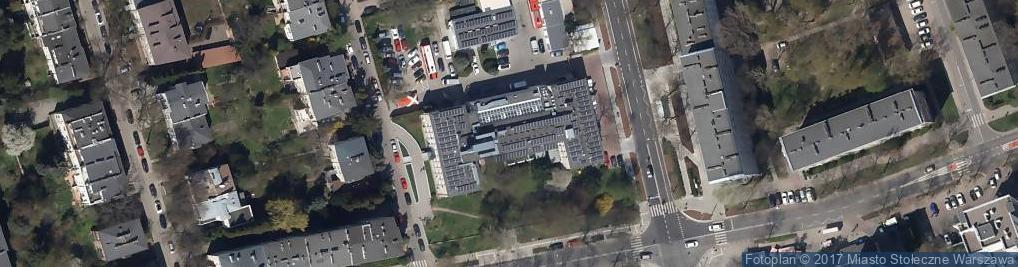 Zdjęcie satelitarne RCKiK Warszawa