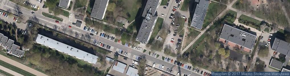 Zdjęcie satelitarne Służewiec