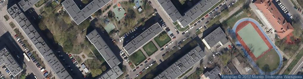 Zdjęcie satelitarne SP nr 34 Społeczna