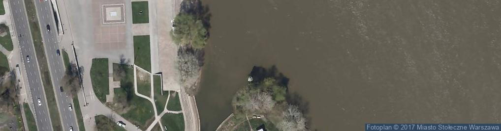 Zdjęcie satelitarne kanał portowy - rz. Wisła [L511
