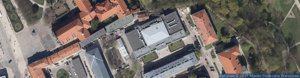 Zdjęcie satelitarne Uniwersytet Warszawski