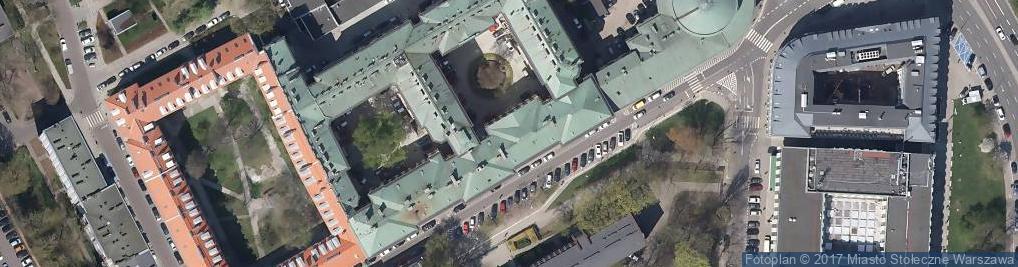 Zdjęcie satelitarne Główny Urząd Miar