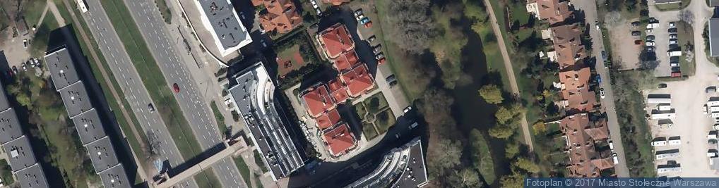 Zdjęcie satelitarne Dom Wina Warszawa