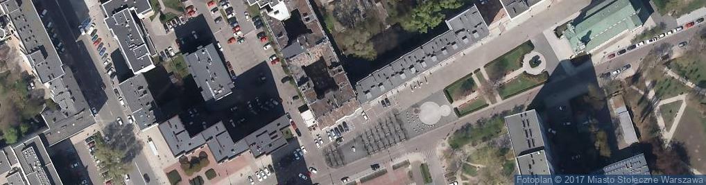 Zdjęcie satelitarne Kamienica Pod Zegarem