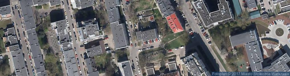 Zdjęcie satelitarne Zarząd Budynków Komunalnych-Mokotów Falęcka