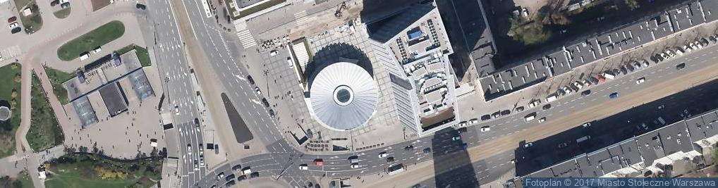Zdjęcie satelitarne Dmowski circular square in Warsaw