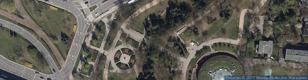 Zdjęcie satelitarne Picea pungens Zeromskiego 1