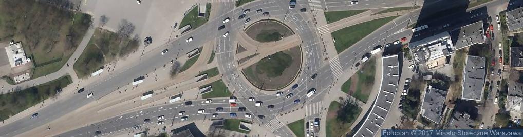 Zdjęcie satelitarne Pomnik Jerzego Waszyngtona w Warszawie 2