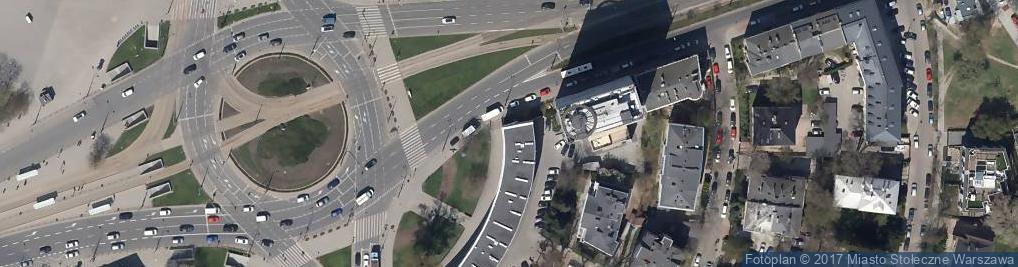 Zdjęcie satelitarne Rondo Waszyngtona Warszawa