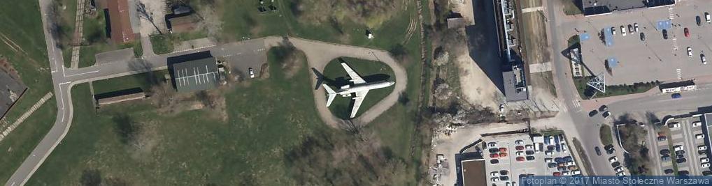 Zdjęcie satelitarne TU-134 CCCP-65600