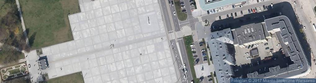 Zdjęcie satelitarne Varšava, Śródmieście, plac Marszalka Józefa Piłsudskiego, pamětní deska papeže Jana Pavla II