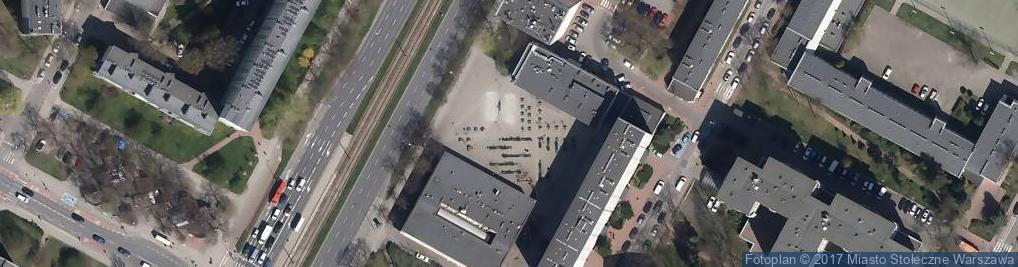 Zdjęcie satelitarne Warszawa-Ochota, plac przy Grojeckiej
