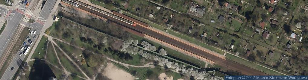 Zdjęcie satelitarne Warszawa Rakowiec tablica