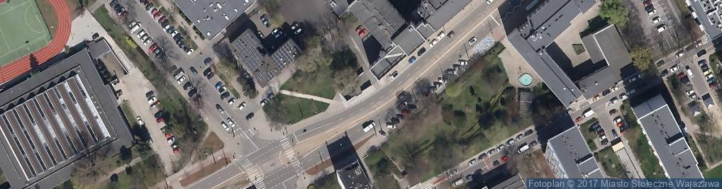 Zdjęcie satelitarne Warszawa Umschlagplatz pomnik 01