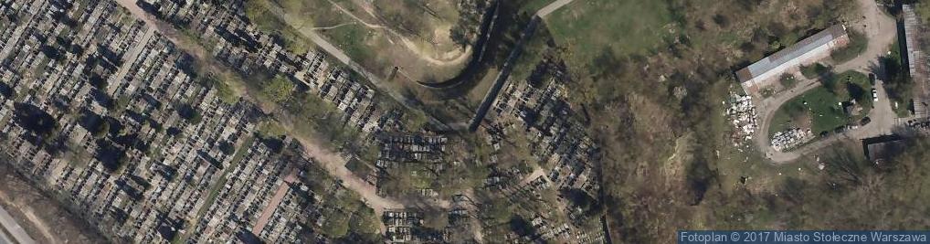 Zdjęcie satelitarne Warszawa-Wlochy, cmentarz przy Ryzowej