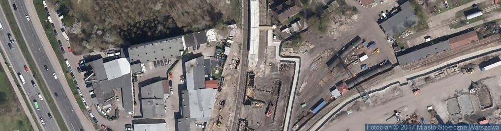 Zdjęcie satelitarne Warszawa Wola train station