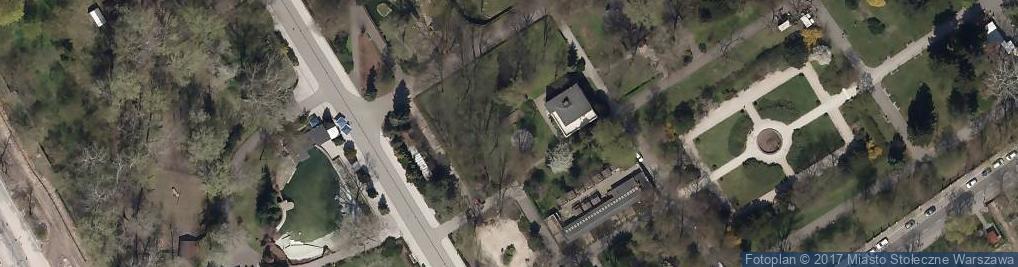 Zdjęcie satelitarne Miejski Ogród Zoologiczny w Warszawie