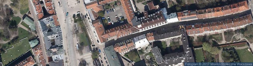 Zdjęcie satelitarne Na Kłopoty Bednarska