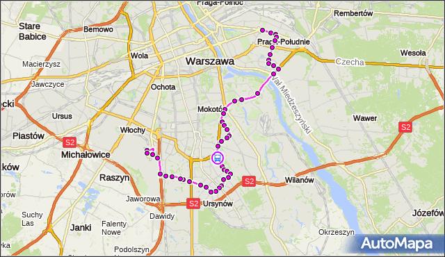 Rozkład jazdy autobusu 148 na przystanku Arbuzowa 01. ZTM Warszawa na mapie Targeo