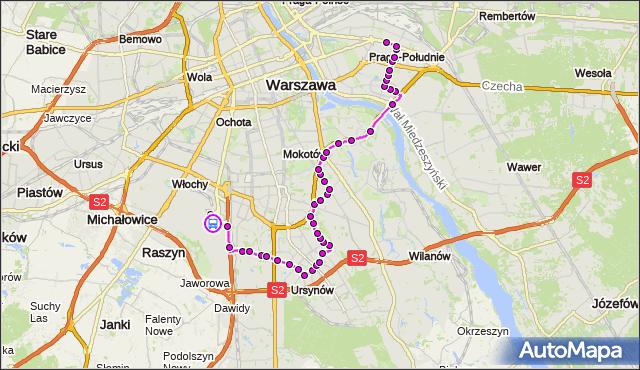 Rozkład jazdy autobusu 148 na przystanku Terminal Autokarowy 02. ZTM Warszawa na mapie Targeo