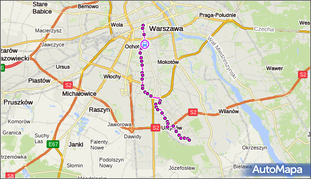 Rozkład jazdy autobusu N34 na przystanku Biblioteka Narodowa 01. ZTM Warszawa na mapie Targeo