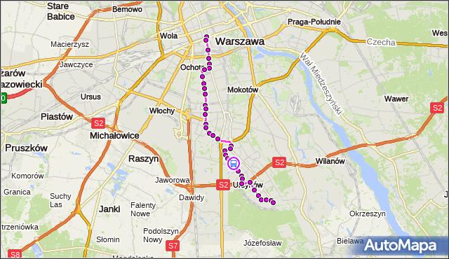 Rozkład jazdy autobusu N34 na przystanku Dunikowskiego 02. ZTM Warszawa na mapie Targeo