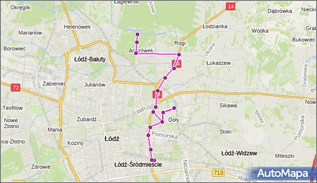 Rozkład jazdy autobusu 56 na przystanku Doły 39. MPK Łódź na mapie Targeo
