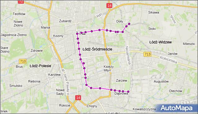 Rozkład jazdy tramwaju 2 na przystanku Pomorska - Kamińskiego. MPKLodz na mapie Targeo