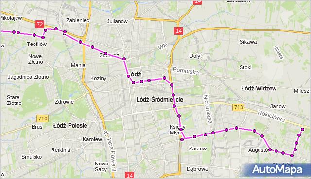 Rozkład jazdy autobusu 96 na przystanku Śmigłego-Rydza/Piłsudskiego. MPK Łódź na mapie Targeo
