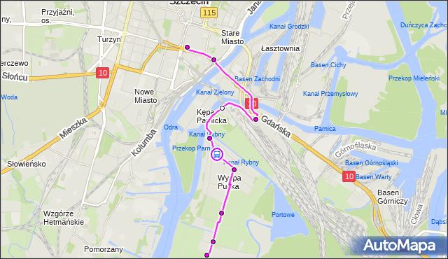 Rozkład jazdy autobusu 52 na przystanku Wiejska 12. ZDiTM Szczecin na mapie Targeo