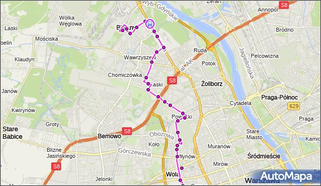 Rozkład jazdy autobusu 103 na przystanku Las Bielański 02. ZTM Warszawa na mapie Targeo