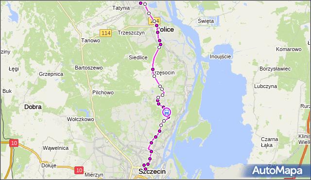 Rozkład jazdy autobusu 101 na przystanku Nehringa 21. ZDiTM Szczecin na mapie Targeo