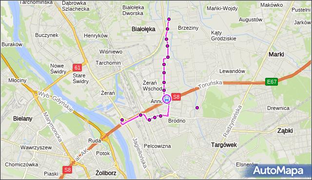 Rozkład jazdy autobusu 104 na przystanku Kopijników 02. ZTM Warszawa na mapie Targeo
