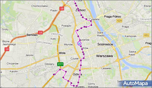 Rozkład jazdy autobusu 157 na przystanku Wola-Ratusz 05. ZTM Warszawa na mapie Targeo