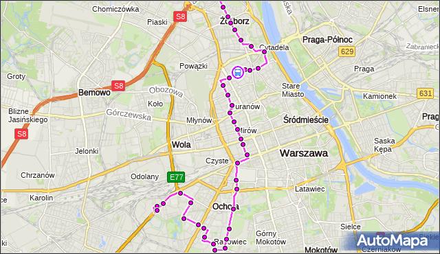 Rozkład jazdy autobusu 157 na przystanku Dzika 01. ZTM Warszawa na mapie Targeo
