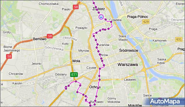 Rozkład jazdy autobusu 157 na przystanku gen.Zajączka 02. ZTM Warszawa na mapie Targeo