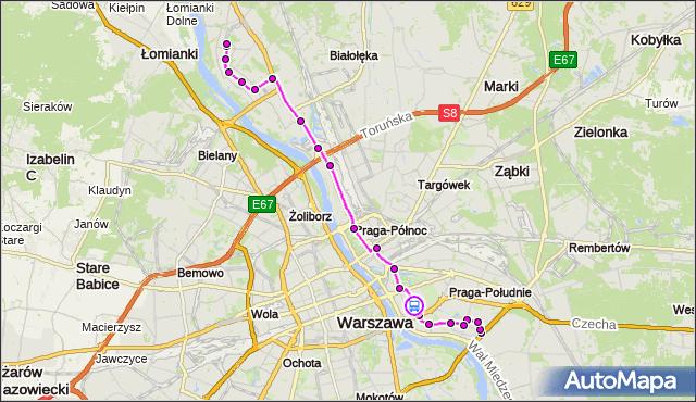 Rozkład jazdy autobusu 509 na przystanku Stacja Krwiodawstwa 04. ZTM Warszawa na mapie Targeo