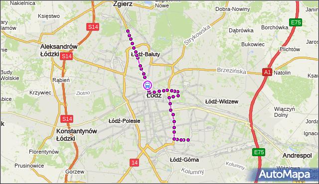 Rozkład jazdy tramwaju 4 na przystanku Zgierska - pl. Kościelny. MPKLodz na mapie Targeo