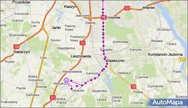 Rozkład jazdy autobusu 727 na przystanku Rybna 01. ZTM Warszawa na mapie Targeo