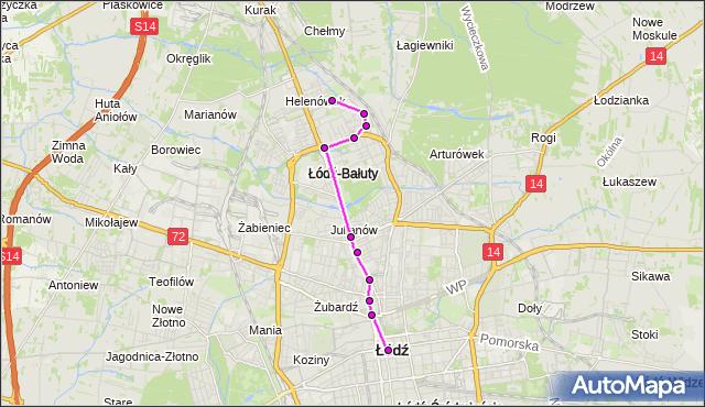 Rozkład jazdy autobusu 59 na przystanku Zachodnia/Lutomierska. MPK Łódź na mapie Targeo