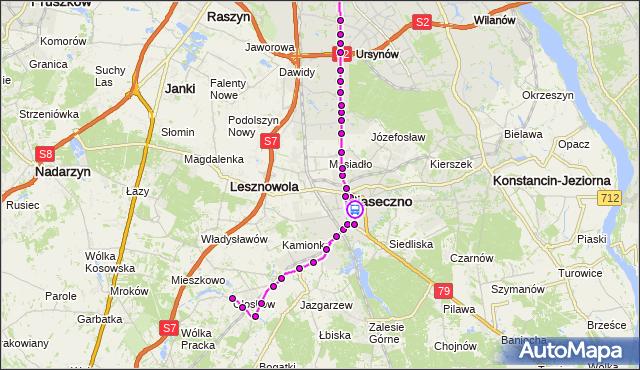 Rozkład jazdy autobusu 727 na przystanku Urząd Miasta 02. ZTM Warszawa na mapie Targeo