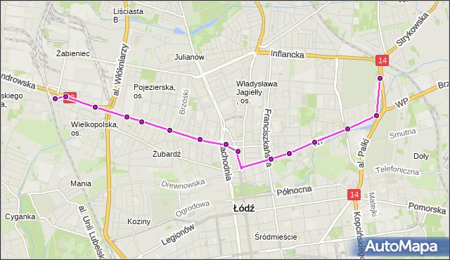 Rozkład jazdy tramwaju 5 na przystanku pl. Kościelny. MPKLodz na mapie Targeo