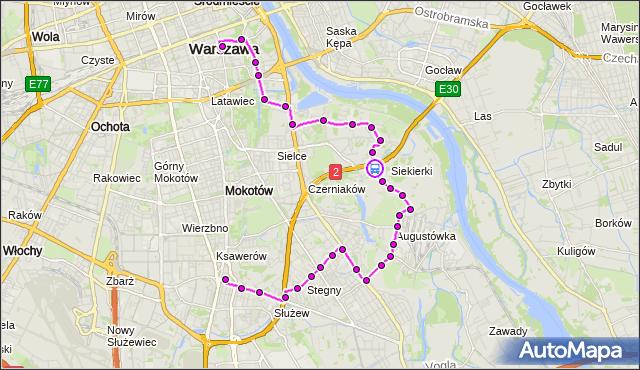 Rozkład jazdy autobusu 108 na przystanku Ananasowa 02. ZTM Warszawa na mapie Targeo
