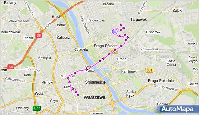 Rozkład jazdy autobusu 160 na przystanku DKS Targówek 01. ZTM Warszawa na mapie Targeo
