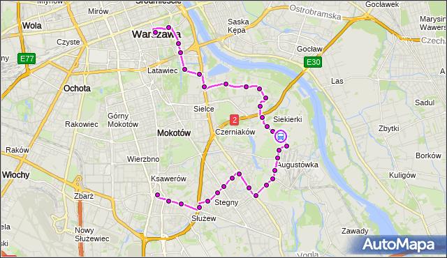 Rozkład jazdy autobusu 108 na przystanku Ogrody Działkowe Budowlani II 02. ZTM Warszawa na mapie Targeo